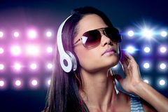 Music woman stock photos