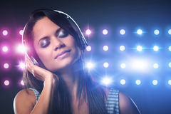 Music woman Stock Images