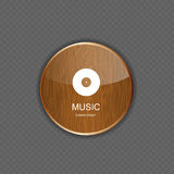 Music wood application icons Royalty Free Stock Photography