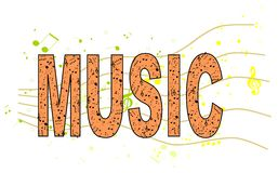Music word Stock Photography
