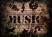 Music word background Stock Images