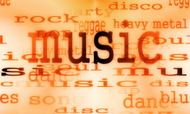 Music word background Royalty Free Stock Image
