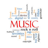 Music Word Cloud Concept Royalty Free Stock Images