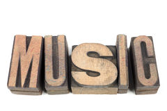 Music word isol Royalty Free Stock Photos