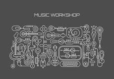 Music Workshop stock illustration