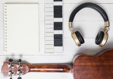 Music writing Equipments on table. Royalty Free Stock Images