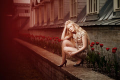 Music and young woman Royalty Free Stock Photos