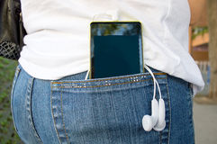 With music in your pocket Royalty Free Stock Photos