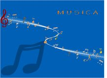 Musica. Vector illustration of music note Royalty Free Stock Photography