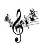 Musica 2 Fotografia Stock Libera da Diritti
