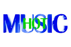 musica 3D calda Immagine Stock