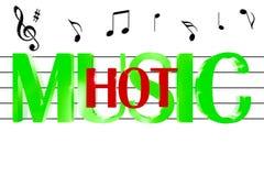 musica 3D calda Immagini Stock