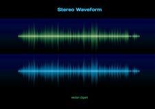 Forma d'onda stereo Immagine Stock Libera da Diritti