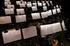 Musica, buca dell'orchestra, intervallo Fotografie Stock Libere da Diritti