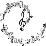 Musica. Clef triplo e note per il vostro disegno. Fotografia Stock Libera da Diritti