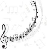 Musica. Clef triplo e note per il vostro disegno Fotografia Stock Libera da Diritti