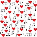Musica Clef triplo e note per il vostro disegno Immagini Stock Libere da Diritti