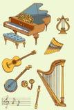 Musica color1 Immagine Stock