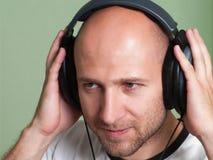 Musica d'ascolto Fotografie Stock Libere da Diritti