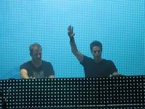 Musica da ballo elettrica DJs fotografie stock