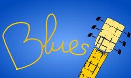 Musica degli azzurri Fotografia Stock Libera da Diritti