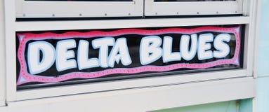 Musica dei blu di delta fotografia stock