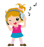 Musica del bambino Fotografia Stock