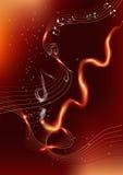 Musica del fuoco Fotografia Stock Libera da Diritti