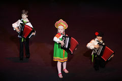 Musica del gioco dei bambini al concerto Fotografia Stock Libera da Diritti