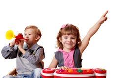 Musica del gioco di bambini Fotografie Stock