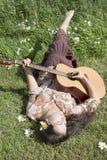 Musica del Hippie Fotografia Stock