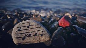 Musica del mare Fotografia Stock