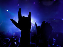 Musica del metallo Fotografia Stock Libera da Diritti