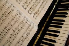 Musica del piano Fotografia Stock Libera da Diritti