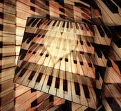 Musica del piano del fondo di amore Immagine Stock