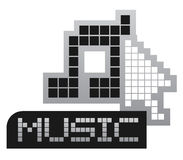 Musica del pixel Fotografia Stock