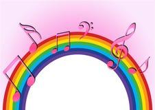 Musica del Rainbow Immagine Stock Libera da Diritti