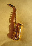 Musica del saxofón e Fotografía de archivo libre de regalías