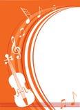 Musica del violino Fotografia Stock
