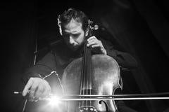Musica del violoncello Fotografie Stock Libere da Diritti