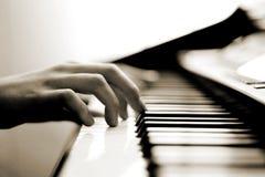 Musica delicata del piano Fotografia Stock Libera da Diritti