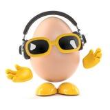 musica dell'uovo 3d Immagine Stock