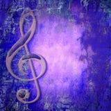 Musica della chiave tripla Fotografia Stock