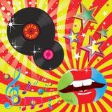Musica della discoteca ed illustrazione di evento di ballo Fotografie Stock