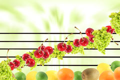 Musica della sinfonia della frutta Immagini Stock