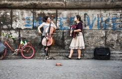 Musica della via Fotografia Stock Libera da Diritti
