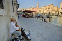 Musica della via di Venezia Immagini Stock