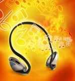 Musica delle cuffie Immagini Stock Libere da Diritti