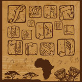 Musica di afro Immagini Stock Libere da Diritti