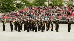 Musica di banda militare rumena della marina Fotografie Stock
